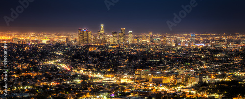 Los Angeles Cityscape at Night Fotobehang