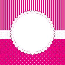 Invitation Card With Polka Dots And Stripes