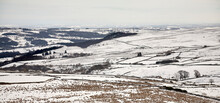 A Hazy View In February And Nidderdale Is Left With A Covering Of Snow