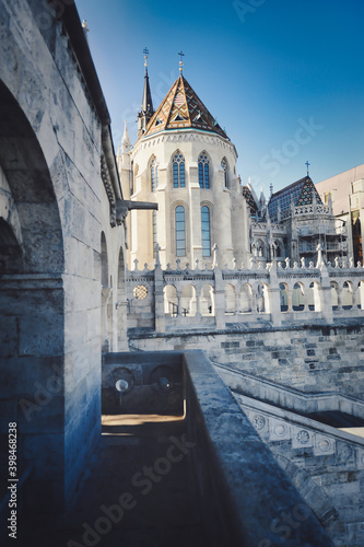 vertical shot of fisherman's bastion in Budapest Tapéta, Fotótapéta