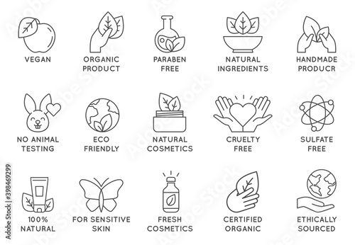 Fotomural Organic cosmetics icon