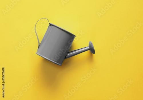 Obraz na płótnie Watering can on trendy colorful background.