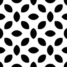 Abstract Seamless Pattern Ol Lentil Shapes