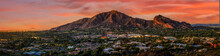 Camelback Mountain In Phoenix Arizona With Sunset