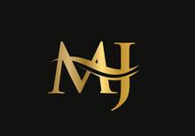 MJ Letter Logo Design. MJ Logo For Luxury Branding. Elegant And Stylish Design For Your Company.