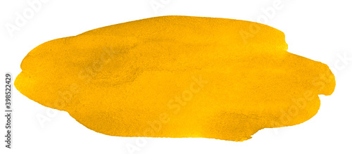 Bright yellow watercolor stains Wallpaper Mural