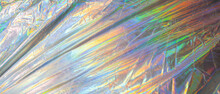 Holographic Iridescent Surface Wrinkled Foil Pastel