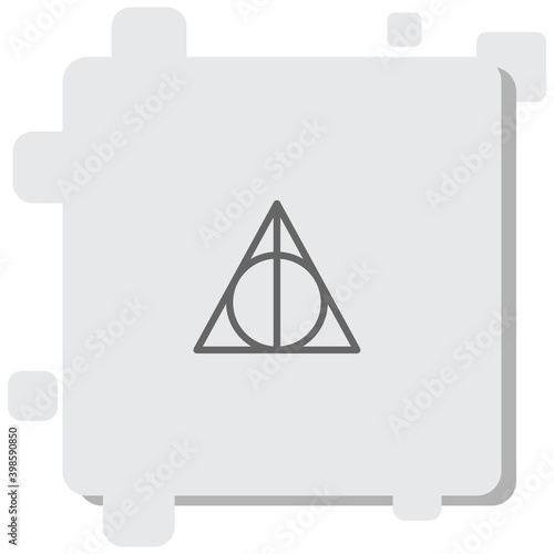 Fototapeta deathly hallows vector icon modern simple vector illustration