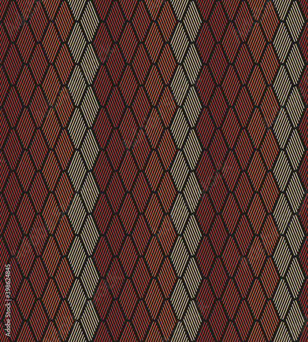 Obraz na plátne Abstract Seamless Striped Fish Scales Pattern Background