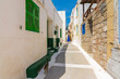 Nikia Village street view in Nisyros Island. Nisyros Island popular tourist destination in Aegean Sea.