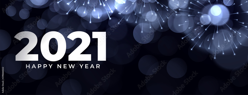 Fototapeta 2021 celebration banner for new year event design