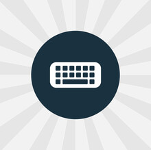 Keyboard Isolated Vector Icon. Digital Technologies Design Element