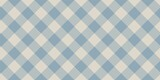 blue and beige pale colors fabric texture of traditional checkered diagonal gingham seamless ornament for plaid, tartan, tablecloths, shirts, clothes, dresses, bedding - 398696268