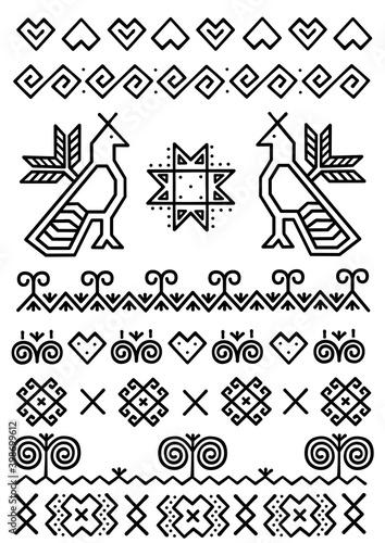 Fototapeta Folk Slovak ornaments from Cicmany village