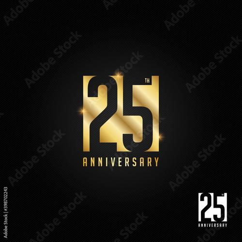 Foto 25 years anniversary logo, icon and symbol vector illustration