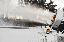 Mobile Snow Guns For Production Of Artificial Snow.
