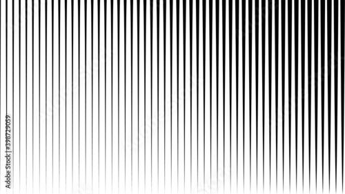 Fototapeta Abstract Black vertical Striped Background . Vector obraz