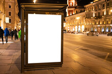 Advertising Banner Mock-up In Stop