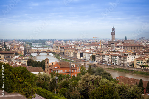 Fototapety, obrazy: Italy. Tuscany. Florence. View from Michelangelo observation deck.