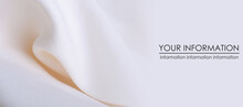 White Cotton Textile Material Cloth Texture Blur Background, Space For Text