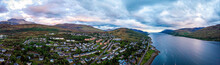 Aerial View Of Fort William, A Town In The Western Scottish Highlands, On The Shores Of Loch Linnhe, Known As A Gateway To Ben Nevis