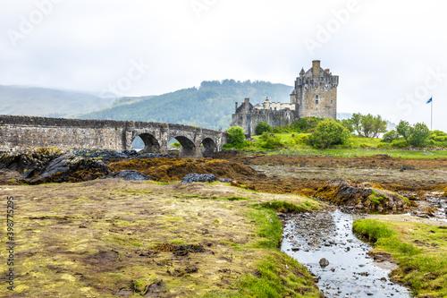 Elian Donan in the cloudy weather, Scotland