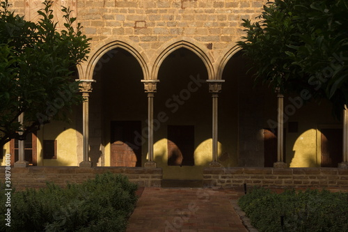 Canvas Print Elements of architectural decorations of buildings, arches, doorways and windows