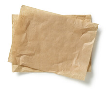 Crumpled Brown Baking Paper Sheets