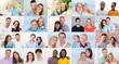 Happy Couple People Faces Portrait Collage