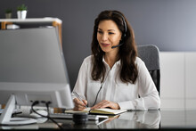 Virtual Personal Assistant Woman Making Video Call