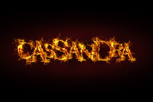 Cassandra Name Made Of Fire And Flames