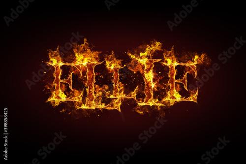 Fototapeta Ellie name made of fire and flames