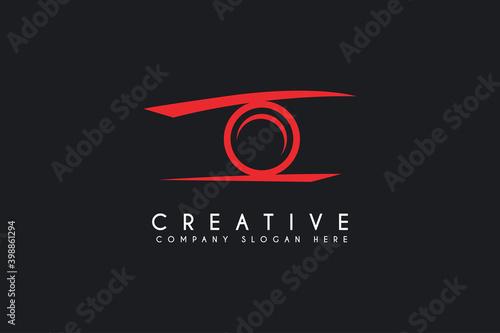 Fototapeta camera logo icon vector illustration. photography logo isolated on black background obraz