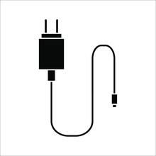 Charger Flat Icon On White Background. Color Editable