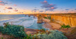 canvas print picture twelve apostles at sunset,great ocean road at port campbell, australia