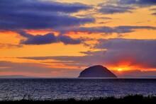 Sunset At Ailsa Craig Ayrshire Scotland