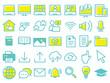 オンライン学習アイコン Online education icon