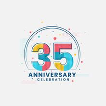 35 Anniversary Celebration, Modern 35th Anniversary Design