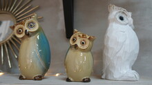 Porcelain Owl, Designer Toy, Room Decoration