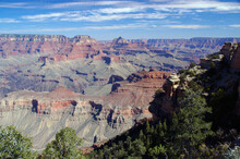 Vishnu Temple And Wotons Throne Viewed From Yaki Point Grand Canyon