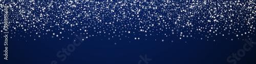 Amazing falling stars Christmas background. Subtle Fototapete