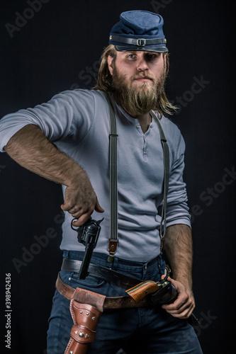 Obraz na plátně American Civil War Soldier