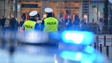 Policjanci Ruchu Drogowego W Tle,