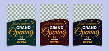 Grand Opening Invitation Flyer Celebration Banner Design Use For Event Invitation, Vector Illustration.
