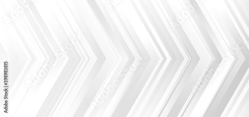 Canvastavla Template banner design white and gray gradient color arrows modern background