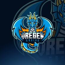Blue Dragon Mascot E Sport Logo