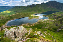 Beautiful Landscape Of Snowdon National Park In North Wales. UK