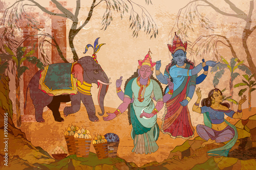 Fototapeta Gods of India