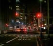 Evening street scene in New York city