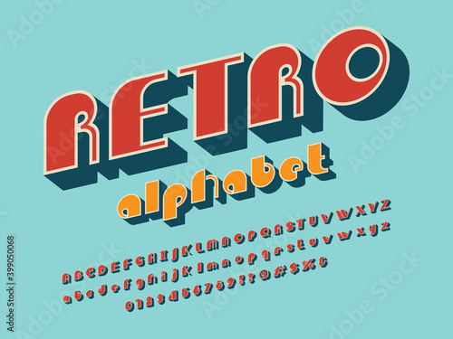 A groovy hippie style alphabet design with uppercase, lowercase, numbers and sym Wallpaper Mural